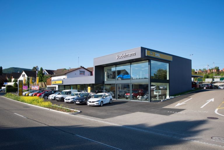 Neubau Ausstellung Auto Stadelmann, Hauptstrasse, Frick