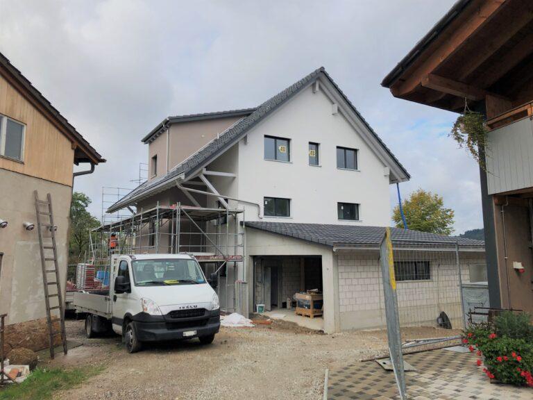 Neubau Einfamilienhaus, Unterdorfstrasse, Sisseln